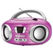 Rádio Boombox BX-15, Entradas USB, Auxiliar, CD Player, Rádio FM, 6W RMS - Mondial -