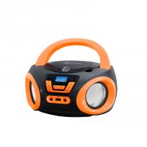 Rádio Boombox com CD USB Preto/Laranja BD-121-PL Lenoxx -