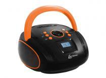 Rádio Boombox com USB Preto/Laranja BD-108-PL Lenoxx -