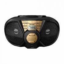Radio Boombox Portatil CD/USB/FM/AM PX3115GX/78 PRETO/DOURADO 5W - Philips