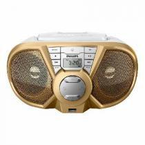 Radio Boombox Portatil CD/USB/FM/AM PX3125GX/78 BRANCO/DOURADO 5W - Philips
