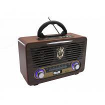 Radio Com Bluetooth Retro Vintage Luxo Com Usb Sd Am Fm Compativel Android Com Controle - Ministar