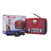 Radio com bluetooth retro vintage luxo com usb sd am fm compativel com iphone e android com lanterna - Gimp