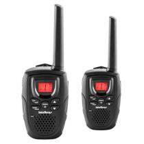 Rádio comunicador intelbras, display luminoso, função vox, com 2 rádios - rc5002 -