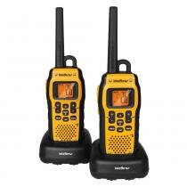 Rádio Comunicador Intelbras Twin Water Proof Preto e Amarelo -
