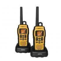 Rádio Comunicador Twin Waterproof, Alcance de 9,6 Km, À Prova dÁgua, Amarelo e Preto - Intelbras - Intelbras