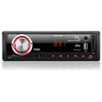 Rádio mp3 automotivo multilaser wave fiesta 45w usb sd card p3265 -