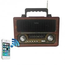 Radio mp3 micro system recarregavel usb sd bluetooth retro - Ewtto