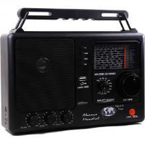 Rádio Portátil 12 Faixas com USB e SD 1W Preto RM-PF 122/AC - Motobras - Motobras