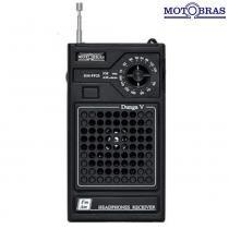 Rádio Portátil 2 Faixas AM e FM RM-PF25 - Motobras - Motobras