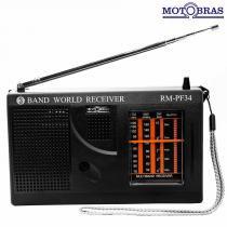 Rádio Portátil 3 Faixas RM-PF 34  Motobras - Motobras