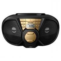 Radio Portátil 5W Rms Usb Preto E Dourado Px3115gx/78 Philips -