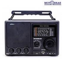 Rádio Portátil 8 Faixas Bateria Recarregável RM-PUSM-81BR - Motobras - Motobras