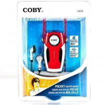 Rádio Portátil AM/FM de Alta Sensibilidade c/ Fone de Ouvido COBY CX73 Vermelho - Coby