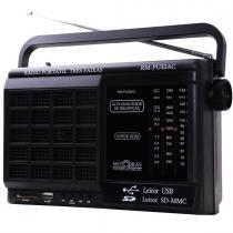 Rádio Portátil AM/FM/OC USB/SD Card RM PU 32AC - MotoBras -