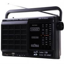 Rádio Portátil AM/FM/OC USB/SD Card RM PU 32AC - MotoBras - Motobras