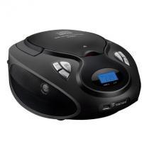 Rádio Portátil Boombox Multilaser Preto, Entrada USB, Entrada SD - SP178 - MULTILASER