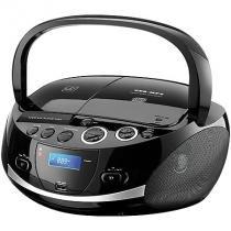 Radio portatil boombox multilaser sp157 20w usb sd fm cd dock station - Multilaser
