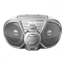 Rádio Portátil Cd Usb Fm Com Bluetooth Prata Px3125stx 78 Philips -