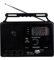 Rádio Portátil de 12 Faixas com sintonia fina e USB - Motobras