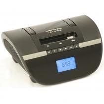 Rádio portátil lendex relógio alarme usb 6w ldcs114b-bibolt -