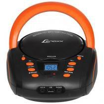 Rádio Portátil Lenoxx FM 5W CD Player - Display Digital BD 120 USB Entrada para Cartão