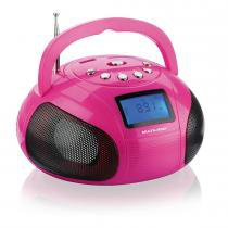 Rádio Portátil Mini Boombox 10W Rosa SP146 - Multilaser - Multilaser
