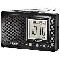 Rádio Portátil Mondial AM/FM - 10 Faixas c/ Display Digital RP-03