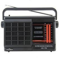 Rádio Portátil Motobrás 2FXS AM FM RMPFT21AC22AC - Motobrás