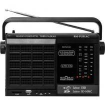 Rádio Portátil Receptor De 3 Faixas Com Usb E Sd Motobras -