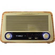 Rádio Portátil TRC AM/FM, Bluetooth, Controle Remoto Entradas USB, SD e Auxiliar Retrô TRC-212 -