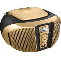 Radio portatil usb/bluetooth px3225gtx/78 dourado/preto philips -