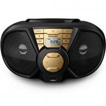 Radio portatil usb px3115gx/78 preto/dourado philips -