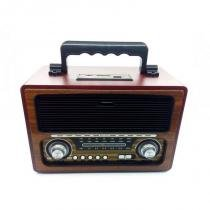 Rádio Portátil Usb Vintage Retrô Recarregável Bluetooth Fm USB Clássico -
