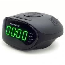 Rádio Relógio com FM, Alarme, Função Soneca e Entrada Auxiliar Multilaser SP202 -