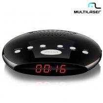Rádio Relógio Digital 5W RMS FM, Alarme Bivolt SP167 - Multilaser - Multilaser