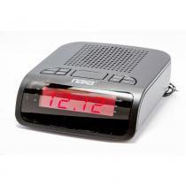 Rádio Relógio Digital AM/FM NRC-174 com 2 Alarmes - NAXA -