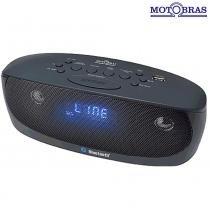 Rádio Relógio Digital Bluetooth, Alarme, USB RRM-BFU11 - Motobras - Motobras