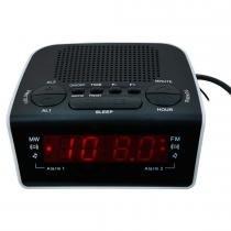 Rádio Relógio Digital com Alarme Duplo Preto RM RRD 21 - MotoBras - Motobras