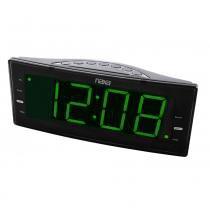 Rádio-relógio digital FM com 2 alarmes e saída USB para carga de dispositivos eletrônicos - NAXA -