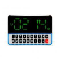 Rádio Relógio FM c/ Entr USB/Alarme/Mp3 e Auxiliar Branco - Importado