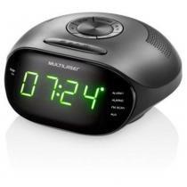 Rádio Relógio Multilaser Digital 5w Led Verde Bivolt Sp202 -
