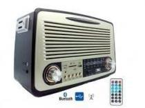 Radio Retro Portátil Recarregável Bluetooth USB estilo Vintage Clássico REF: 014 - Ministar