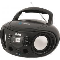 Rádio sem CD com MP3 Player, FM, Bluetooth, Potência 6W RMS, Entradas USB e Auxiliar Philco PB122BT Preto - Philco