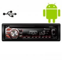 Rádio Toca CD Player Pioneer DEH1650UB Automot. USB MP3 AUX - Pioneer
