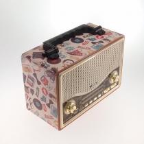 Rádio Vintage ÃCones Retrô Print - PONTO SUL