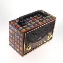 Rádio vintage mini rádios print - Ponto sul