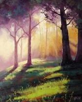 Raios de Sol na Floresta - Gercken  Tela Pequena Para Quadro - Santhatela