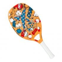Raquete de Beach Tennis Drop Shot Boom 50cm Laranja - Drop Shot