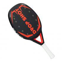Raquete de Beach Tennis Drop Shot Vanguard 50cm Preta e Vermelha - Drop Shot
